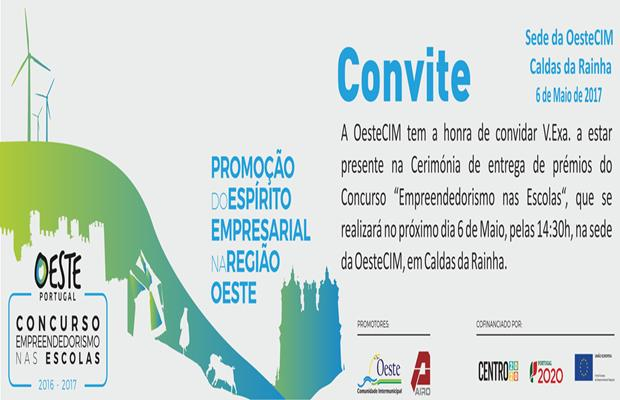 CERIMÓNIA DE ENTREGA DE PRÉMIOS DO CONCURSO – EMPREENDEDORISMO NAS ESCOLAS 2016/17
