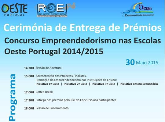 Cerimónia de Entrega de Prémios ROE – Empreendedorismo nas Escolas